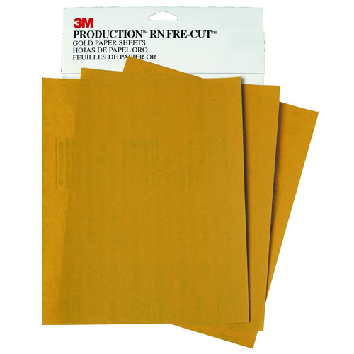 3M 2541 Production Resinite Gold Sheet 9 in. x 11 in. P320A (50-Pack) image number 0