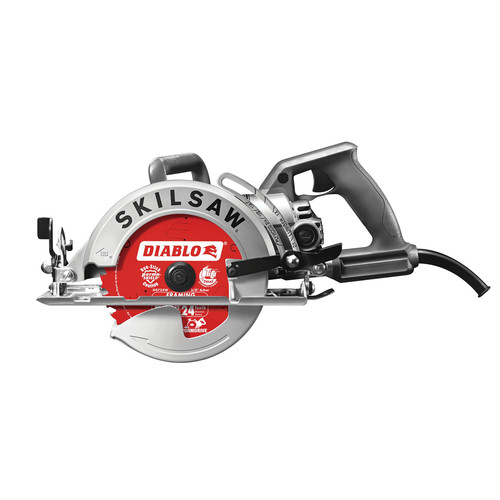 Skil SPT77W-22 7-1/4 in. Aluminum Worm Drive Circular Saw with Diablo Carbide Blade
