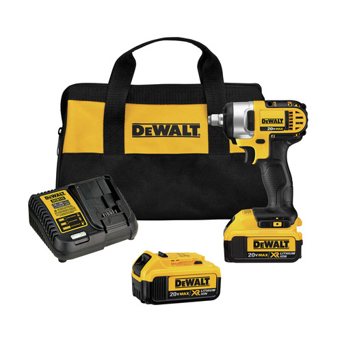 Dewalt DCF880HM2 20V MAX XR Cordless Lithium-Ion 1/2 in. Impact Wrench Kit with Hog Ring Anvil