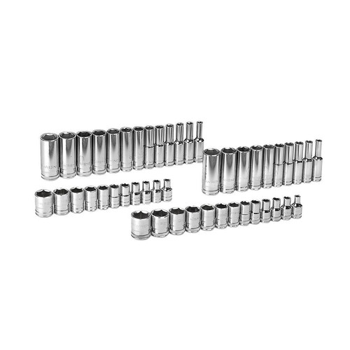 GearWrench 80314 47 pc. SAE/Metric 6 pt. Standard and Deep Socket Accessory Set