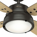 Hunter 59438 52 in. Wingate Noble Bronze Ceiling Fan with Light and Handheld Remote image number 5