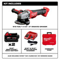 Milwaukee 2781-22 M18 FUEL 4-1/2 in. - 5 in. Slide Switch Grinder with Lock-On and (2) REDLITHIUM Batteries image number 1