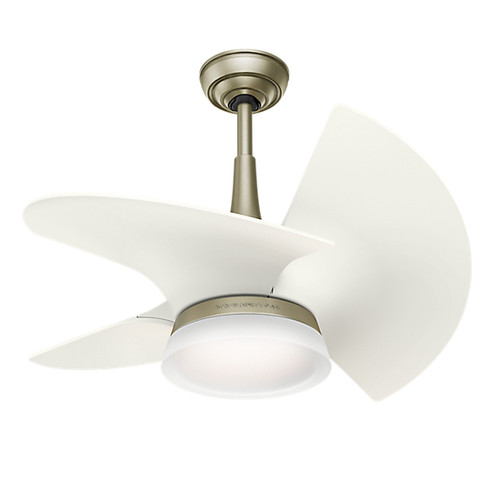 Casablanca 59137 Orchid Pewter Revival 30 in. White Indoor Ceiling Fan with Light and Wall Control