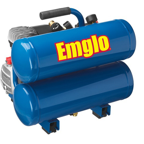 Factory Reconditioned Emglo E810-4VR 1.1 HP 4 Gallon Oil-Lube Twin Stack Air Compressor image number 0