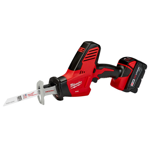 Milwaukee 2625-21 M18 18V Cordless Lithium-Ion Hackzall Reciprocating Saw with High Capacity Lithium-Ion Battery image number 0