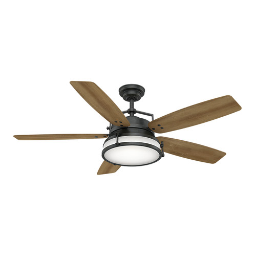 Casablanca 59359 56 in. Caneel Bay Aged Steel Ceiling Fan with Light and Wall Control image number 0