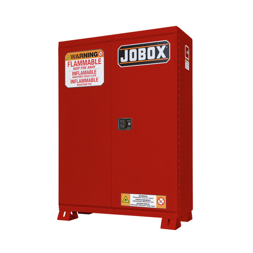 JOBOX 1-854610 30 Gallon Heavy-Duty Self-Closing Safety Cabinet (Red)