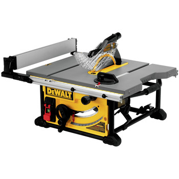 Dewalt DWE7491RS 10 in. 15 Amp  Site-Pro Compact Jobsite Table Saw with Rolling Stand image number 5