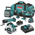 Makita XT613X1 18V LXT Lithium-Ion 6-Piece Cordless Combo Kit (3 Ah) image number 0