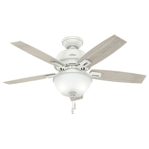 Hunter 52226 44 in. Donegan Fresh White Ceiling Fan with Light