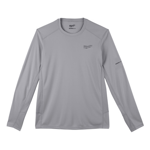 Milwaukee 415G-S WORKSKIN Lightweight Long Sleeve Performance Shirt - Gray, Small image number 0