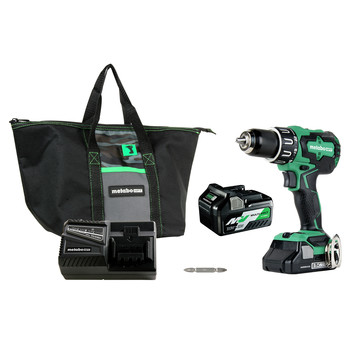 Factory Reconditioned Metabo HPT DV18DBFL2TM 18V Brushless Lithium-Ion 1/2 in. Cordless Hammer Drill Kit (3 Ah/5 Ah)