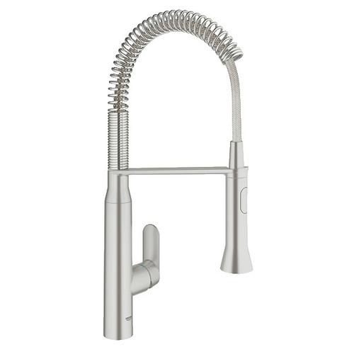 Grohe 31380DC0 1/2 in. K7 Medium Semi-Professional Kitchen Faucet (Steel)
