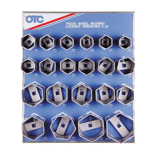 OTC Tools & Equipment 9850 6-Point Wheel Bearing Locknut Sockets with Tool Board image number 0
