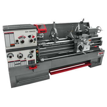 JET GH-1660ZX Lathe with NEWALL DP700 DRO and Taper Attachment Installed