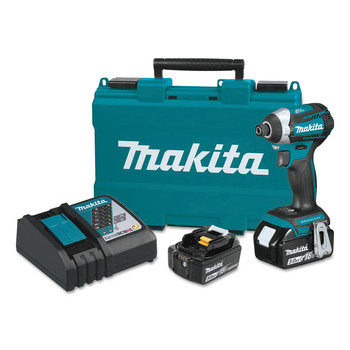 Makita XDT14T 18V LXT Cordless Lithium-Ion Brushless Quick-Shift 3-Speed Impact Driver image number 0