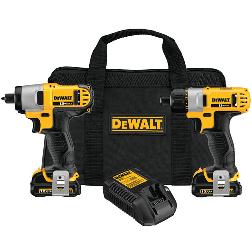 Dewalt DCK210S2 12V MAX Cordless Lithium-Ion 1/4 in. Impact Driver and Screwdriver Combo Kit