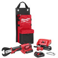 Milwaukee 2678-22 M18 Force Logic 18V 2.0 Ah Cordless Lithium-Ion 6T Utility Crimper Kit with D3 in.Snub Nose in. Groves