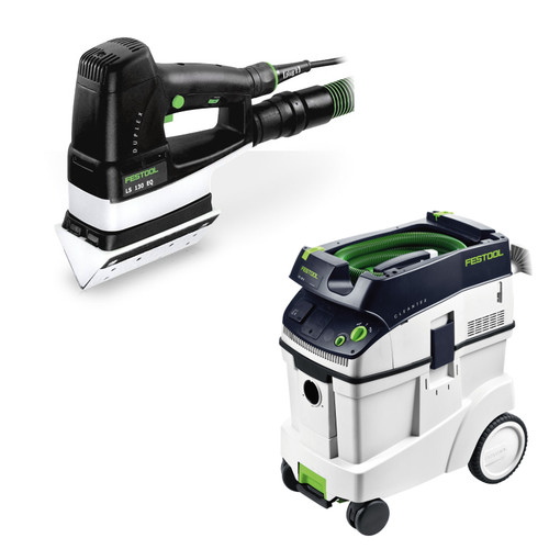Festool LS 130 EQ Duplex Linear Detail Sander with CT 48 E 12.7 Gallon HEPA Dust Extractor