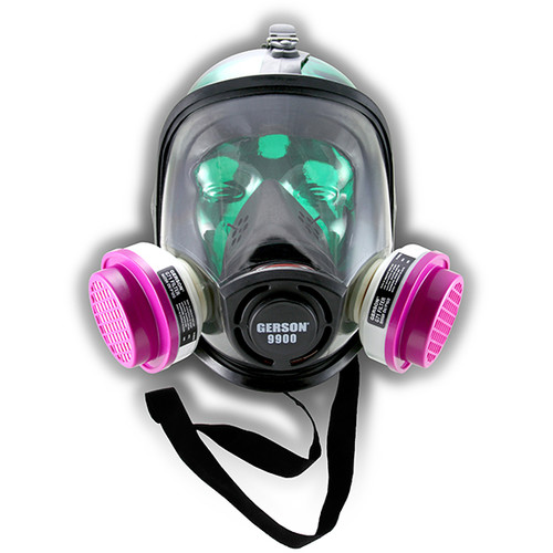Gerson 089901-KIT4 Full-Face TPE Respirator with Organic Vapor