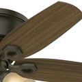 Hunter 51091 42 in. Builder Low Profile New Bronze Ceiling Fan with Light image number 7