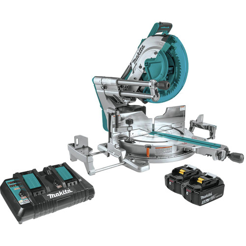 Makita XSL07PT 18V X2 LXT Lithium-Ion (36V) Brushless Cordless 12 in. Dual-Bevel Sliding Compound Miter Saw Kit with Laser (5 Ah) image number 0