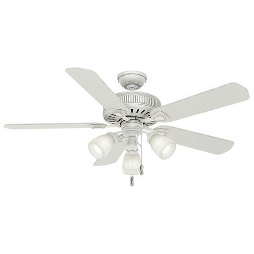 Casablanca 54005 54 in. Ainsworth Gallery 3 Light Cottage White Ceiling Fan with Light