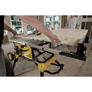 Dewalt DWE7491RS 10 in. 15 Amp  Site-Pro Compact Jobsite Table Saw with Rolling Stand image number 17