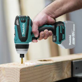 Makita XPT02Z 18V LXT Lithium-Ion Brushless Hybrid 4-Function 1/4 in. Cordless Impact Hammer Drill Driver (Tool Only) image number 8