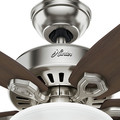 Hunter 52219 42 in. Builder Small Room Brushed Nickel Ceiling Fan with Light image number 5