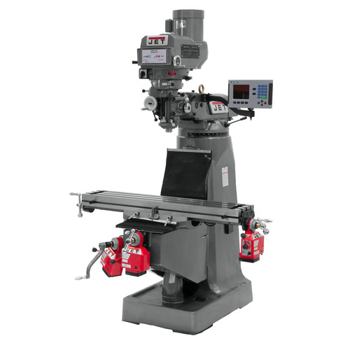 JET JTM-4VS 230/460V Variable Speed Milling Machine with 3-Axis Powerfeeds and ACU-RITE 200S DRO (Quill)