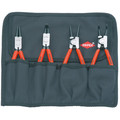 Knipex 001956 4-Piece Snap Ring Pliers Set with Forged Tips