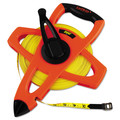 Lufkin FE200 200 ft. Engineer Hi-Viz Fiberglass Measuring Tape in Orange Case (Yellow Blade)
