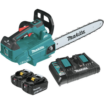 Makita XCU09PT 18V X2 (36V) LXT Lithium-Ion Brushless Cordless 16 in. Top Handle Chainsaw Kit (5 Ah)