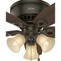 Hunter 51091 42 in. Builder Low Profile New Bronze Ceiling Fan with Light image number 9