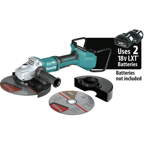 Makita XAG23ZU1 18V X2 LXT Lithium-Ion Brushless Cordless 9 in. Paddle Switch Cut-Off/Angle Grinder with Electric Brake and AWS (Tool Only) image number 0
