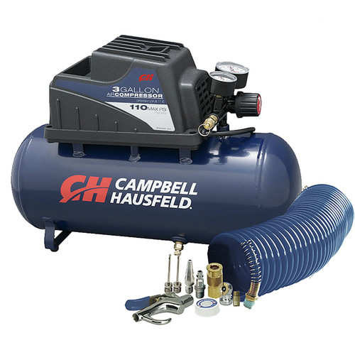 Campbell Hausfeld FP209499AV 3 Gallon Inflation and Fastening Compressor with Accessory Kit