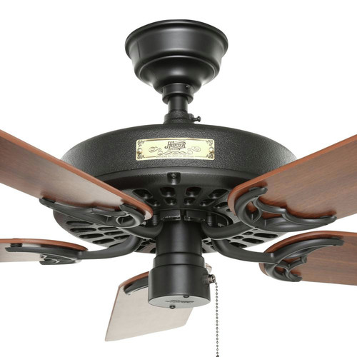 Hunter 23838 52 in. Outdoor Original Black Ceiling Fan image number 3