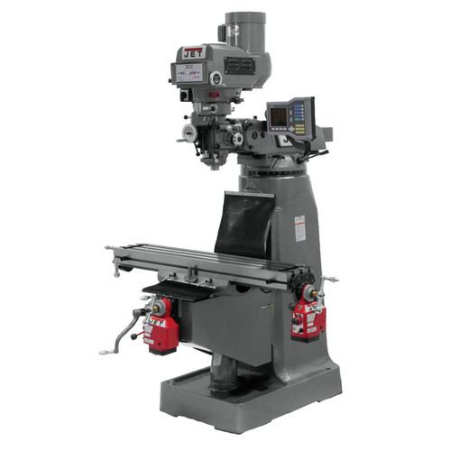 JET JTM-4VS Mill with VUE 3-Axis Q DROX and Y Powerfeed