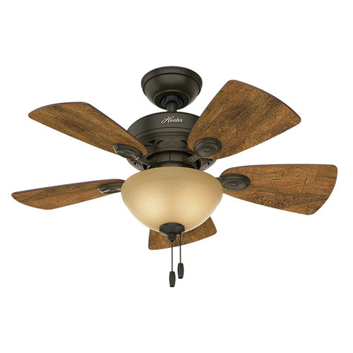 Hunter 52090 34 in. Watson New Bronze Ceiling Fan with Light