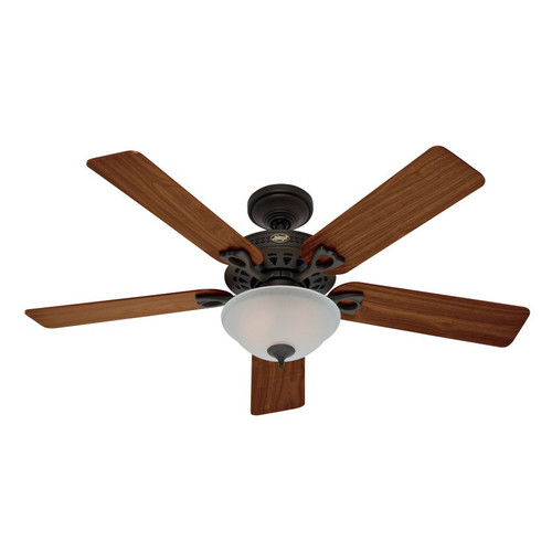 Hunter 53057 52 in. Astoria New Bronze Ceiling Fan with Light