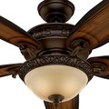 Hunter 54014 Prestige 54 in. Claymore Brushed Cocoa Ceiling Fan with Light image number 6