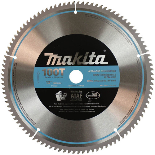 Makita A-93734 12 in. 100 Tooth Ultra-Fine Crosscutting Miter Saw Blade image number 0