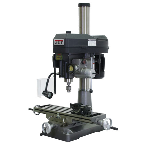 JET JMD-18PFN 9-1/2 in. x 32-1/4 in. Mill/Drill with Newall DP500 DRO and X-Axis Table Powerfeed image number 0