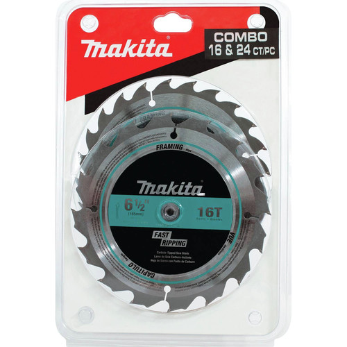 Makita T-01426 2-Piece 6-1/2 in. Carbide-Tipped Saw Blade Set