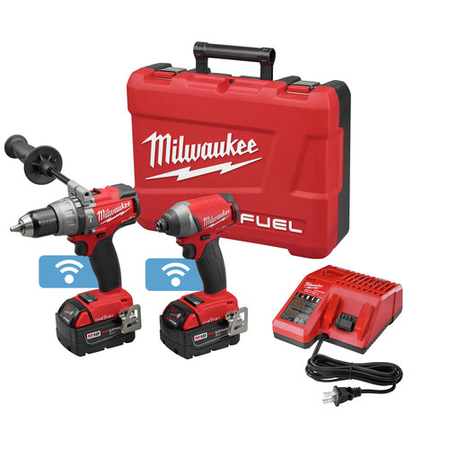 Factory Reconditioned Milwaukee 2796-82 M18 FUEL Cordless Lithium-Ion 2-Tool Combo Kit with ONE-KEY Connectivity image number 0
