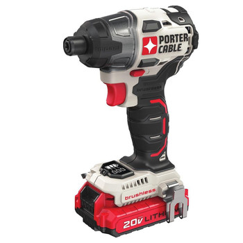 Factory Reconditioned Porter-Cable PCCK647LBR 20V MAX Brushless Lithium-Ion 1/4 in. Cordless Impact Driver Kit (1.3 Ah)