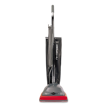 Sanitaire SC679K TRADITION 5 Amp 600-Watt Upright Vacuum with Shake-Out Bag - Gray/Red