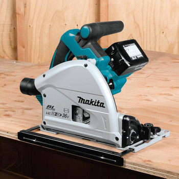 Factory Reconditioned Makita XPS01PTJ-R 18V X2 5.0 Ah Cordless Lithium-Ion Brushless 6-1/2 in. Plunge Circular Saw Kit image number 7