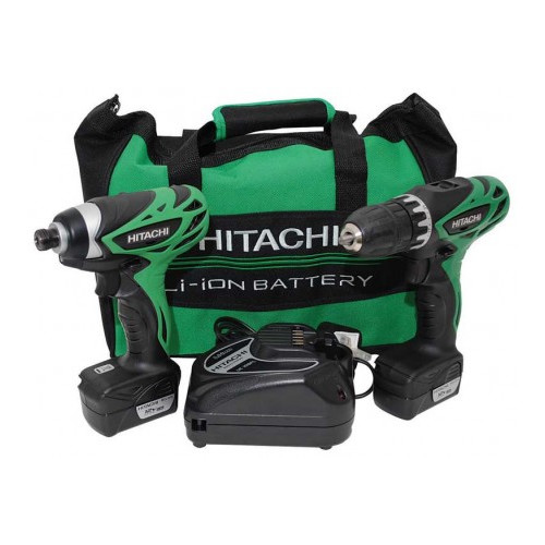 Factory Reconditioned Hitachi KC10DFL HXP 12V Peak Cordless Lithium-Ion 3/8 in. Drill Driver and Impact Driver Combo Kit